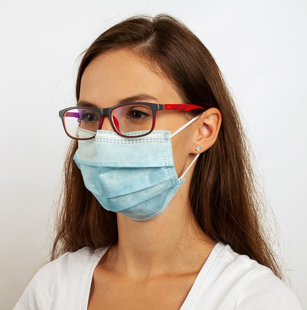 Chirurgická obličejová maska IIR ANTI-FOG